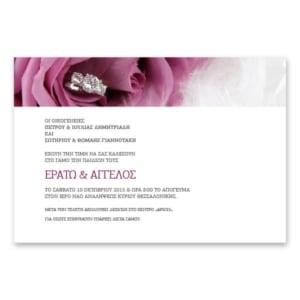 Οριζόντιο Προσκλητήριο Μοντέρνα Τριαντάφυλλα - Πίσω Όψη
